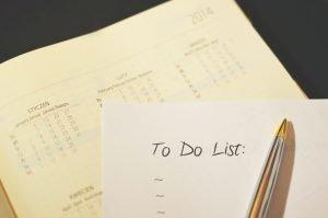 fare la lista delle cose da fare